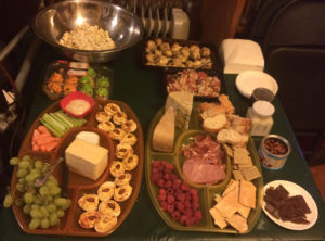 A sampling of hors d'oeuvres.